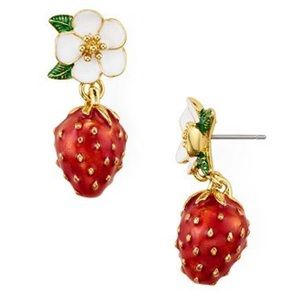 Kate Spade Picnic Perfect Strawberry Earrings NWT